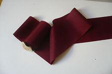 1930 Vintage Moire Taffeta Ribbon. Rich Burgundy. 110mms.  x 1 Yard
