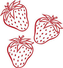 *** 3 Strawberries Vinyl Wall Home Decor Decal ***