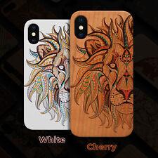 Lion Face Wood Case iPhone 13/12/11/11 Pro/Max/Mini, X/XR/XS Max