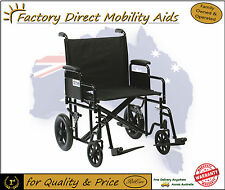 Drive Bariatric Steel Transit Transport Chair Wheelchair Free Delivery