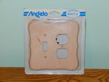 Genuine maple cover plate Angelo 1 toggle light switch duplex outlet combination