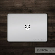 Panda Face - Mac Apple Logo Cover Laptop Vinyl Decal Sticker Macbook Animal