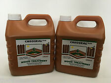 Creoseal Plus - Light Brown - 2 x 4L 8 Litre - Oil Based Timber Treatment (CH)