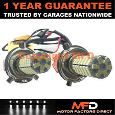 2X CANBUS WHITE H4 120 SMD LED MAIN BEAM BULBS FOR FORD FIESTA FUSION TRANSIT