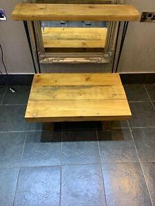 Handmade Bespoke Rustic reclaimed Console table, Side unit. hairpin legs narrow