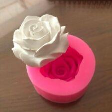 Fleur fleur Rose forme Silicone Fondant savon 3D gâteau moule Cupcake gelée