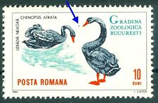 1964 Black swan,Cygne noir,Birds,Bucharest ZOO Animals,Romania,Mi.2331,MNH,Error