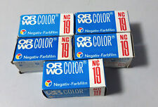 5 rolls of ORWO NC-19 color negative 120 roll film
