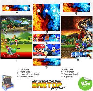 Sega/Nintendo Full/Half Sets Arcade Artwork Arcade Graphics Stickers All sizes