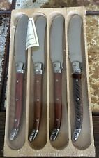 Laguiole  Boxed Set of 4 Wood Handle Spread Knives, MADE IN FRANCE.    NEW