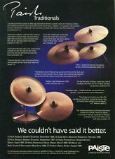 2000 Print Ad of Paiste Traditionals Drum Cymbals