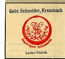 Gebr. Schneider Kreuznach Leder-Fabrik Trademark 1912