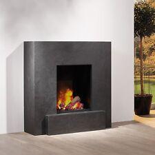 muenkel Design VULCANO Optiflame chimenea eléctrica: Negro (esquisto Negro)