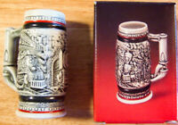 """Vintage 1985 Avon """"AGE OF THE IRON HORSE"""" Numbered ~5"""" Mini Stein Brazil - NEW!"""