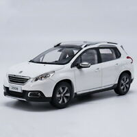 1/18 Scale Peugeot 2008 SUV White Diecast Car Model Toy Collection