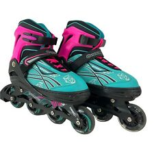 Cunmucu Adjustable Inline Skates Adults Sz 7-10 Mens Illuminating Wheels XL