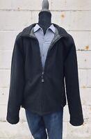 Polo Jeans Ralph Lauren Black Wool Coat Mens Size Large