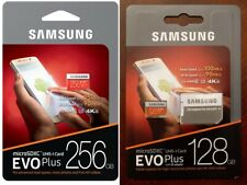 SAMSUNG EVO Plus Micro SD 128,256GB Class10 U3 Flash Memory Card w/SD Adapter
