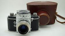 Early Ihagee EXA 35mm Film Camera // Ludwig V Meritar F/2.9 50mm Lens + Case