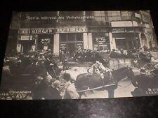 Old postcard Berlin transport strike c1932 Germany