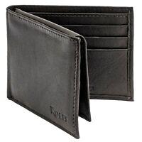 Rolfs Bifold Wallet For Men RFID Blocking with ID Window Genuine Leather Slimfod