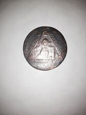 MASONIC ANTIQUE VERY RARE 1790 PRINCE OF WALES ELECTED GRAND MASTER COIN. no.1