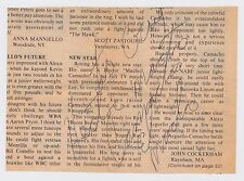 """HECTOR MACHO CAMACHO SIGNED 5""""X7"""" NEWSPAPER PAGE INSCRIBED AUTOGRAPH D. 2012 JSA"""