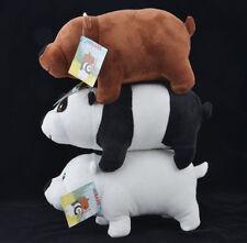Cute We Bare Bears gift Custom Plush Toy Doll 3pcs NEW TV Hot #