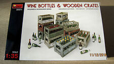 WINE BOTTLES & WOODEN CRATES  1/35  by Mini Art  # 35571 NEW!!!