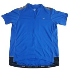 Pearl Izumi Mens Cycling Jersey Size XL Blue Athletic Back Pockets