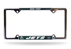 New York Jets NFL EZ View 4 corner Chrome Metal License Plate Frame