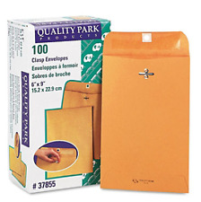 100 Business Envelopes 6x9 Kraft Clasp Manila Catalog Yellow Brown Flap New