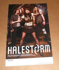 Halestorm 2-Sided Promo Tour Poster 11x17