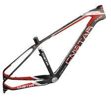 "Cnstar 27.5er 17"" Mtb Carbon Frame Qr Axle 142 Mountain Bike Red Disc Bb30 Matt"