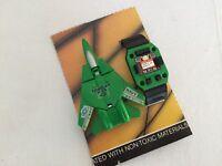 Transformers vintage ROBO Watch Wrist TOMCAT F14 JET green