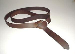 "Leather Renaissance Medieval SCA LARP CELTIC belt brown hand made 3 cm (1-3/16"")"
