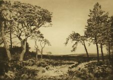A. Watson Turnbull  antique etching 'Surrey landscape' pencil signed proof,