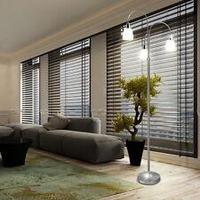 LED Steh Leuchte Wohn Schlaf Zimmer Glas Stand Lampe Fuß Schalter Beleuchtung
