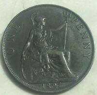 1897 Great Britain 1 One Penny - Nice Copper