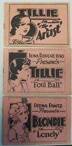 Lot of 3 Tijuana Bible Risqué Adult Comics Tillie Frivolous Fifi 16 Pagers RARE!