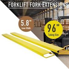 New listing 96� Forklift Pallet Fork Extension Slide on Steel/ Clamp Forklifts Lift Truck