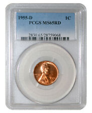 1 PCGS MS65RD 1955-D 1 Cent Lincoln Wheat Cent