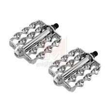 "NEW Double Flat Twisted Lowrider Bicycle Pedals Chrome 1/2"" Beach Cruiser Bike"