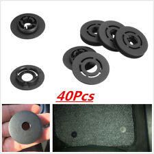 40pcs Car Mat Carpet Clips Fixing Grips Clamps Floor Holders Sleeves Premium Blk