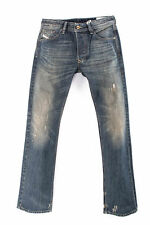 MEN'S DIESEL LARKEE WASH 0R33U Faded Dirty Look Straight Jeans Denim W27 L32