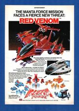 MANTA FORCE V rouge venin-Bluebird Toys, Swindon (1988 Publicité)