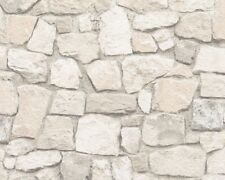 Sand Stone Wallpaper Brick Wall Weathered Rustic Textured Embossed AS Creation