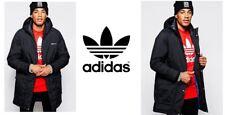 Mens parka Chaqueta Tamaño Grande Adidas Originales AB7859 Negro Nuevo Con Etiquetas