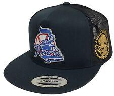 Rieleros De Aguascalientes Mexico Logo Federal A Lodo Gold 2 Logos Hat Navy Mesh