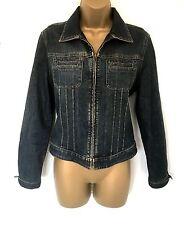 Women's Gap denim zip-up biker-style jacket size S